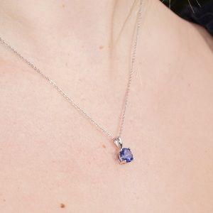 J&LBIJOUX Jewelry - S925 September (sapphire) birthstone necklace